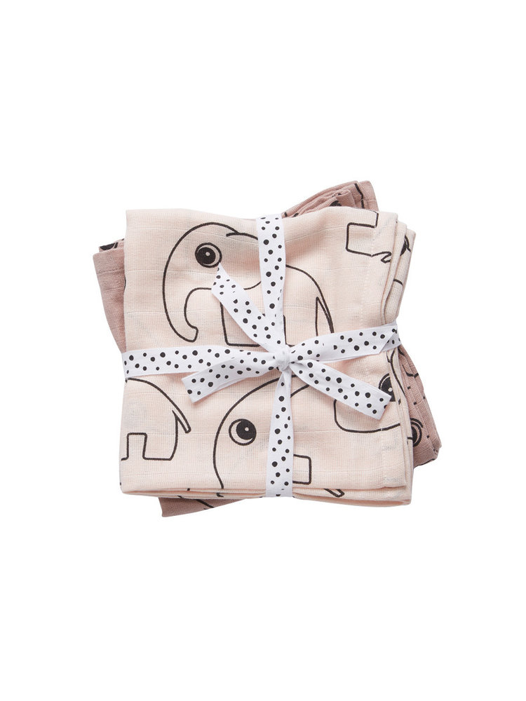 Done by Deer Swaddle 2-pack Contour Powder 120 x 120 cm