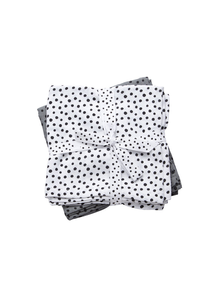 Done by Deer Swaddle 2-pack Happy Dots Grey 120 x 120 cm