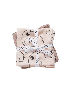 Done by Deer Burp cloth 2-pack Contour Powder 70 x 70 cm