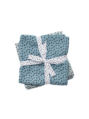 Done by Deer Burp cloth 2-pack Happy Dots Blue 70 x 70 cm