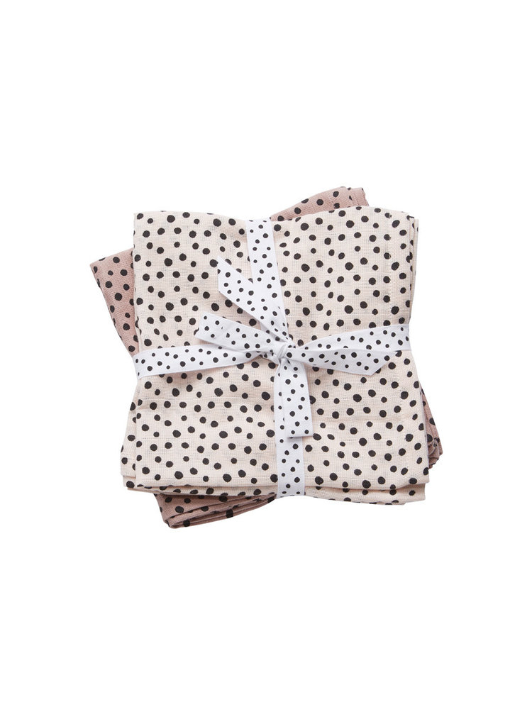 Done by Deer Burp cloth 2-pack Happy Dots Powder 70 x 70 cm