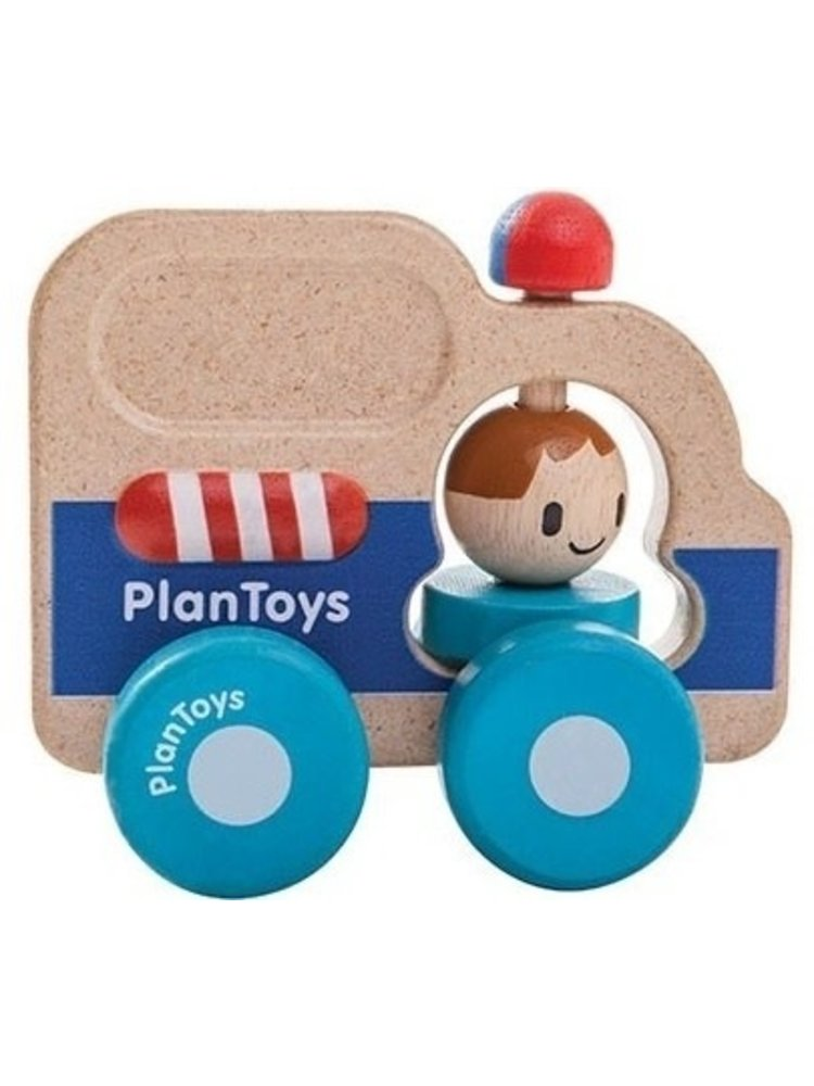 Plan Toys Rescue car - Politieauto van duurzaam hout