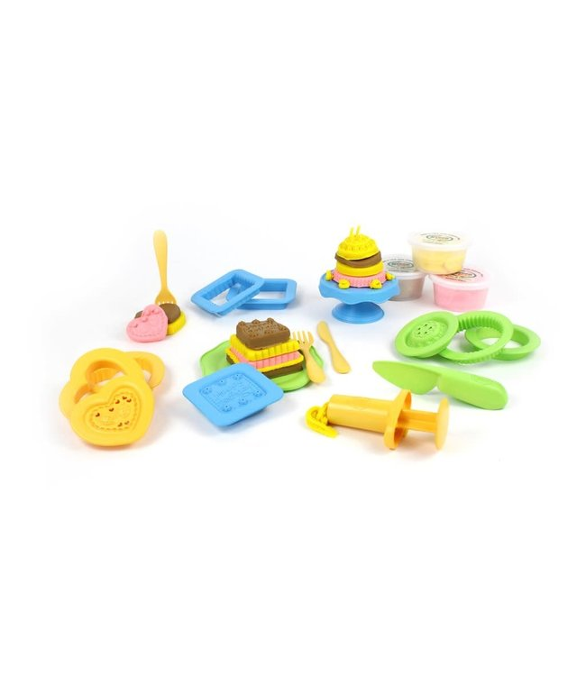 Green Toys Cake Maker Dough set - Speeldeeg set Taartenbakker van biologische bloem