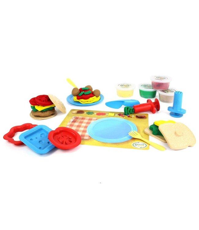 Green Toys Meal Maker Dough set - Speeldeeg set Maaltijd van biologische bloem