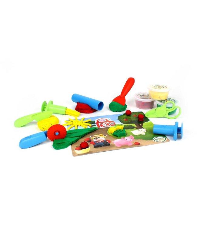 Green Toys Tool essentials Dough set - Speeldeeg set (11-delig) Gereedschap van biologische bloem