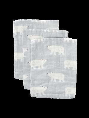 Fresk Washandjes GOTS Organic hydrofiel Set 3 stuks Polar Bear