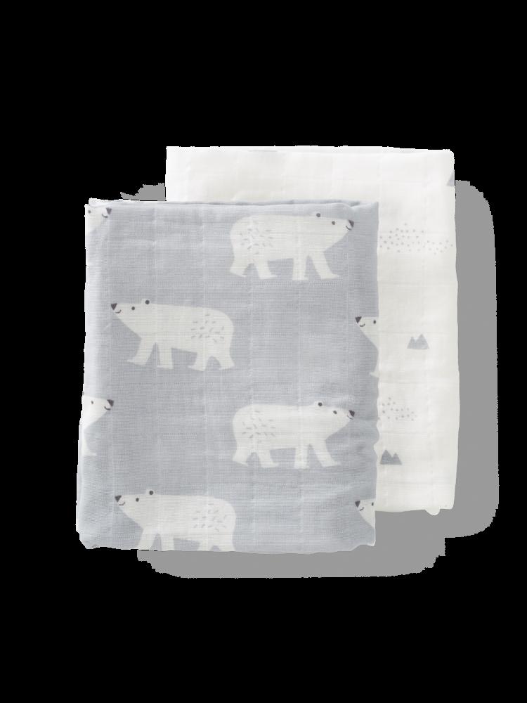 Fresk Hydrofieldoeken set 2 stuks 70 x 60 cm Polar Bear