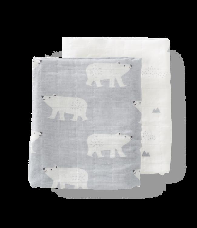 Fresk Hydrofieldoeken set 2 stuks 120 x 120 cm Polar Bear