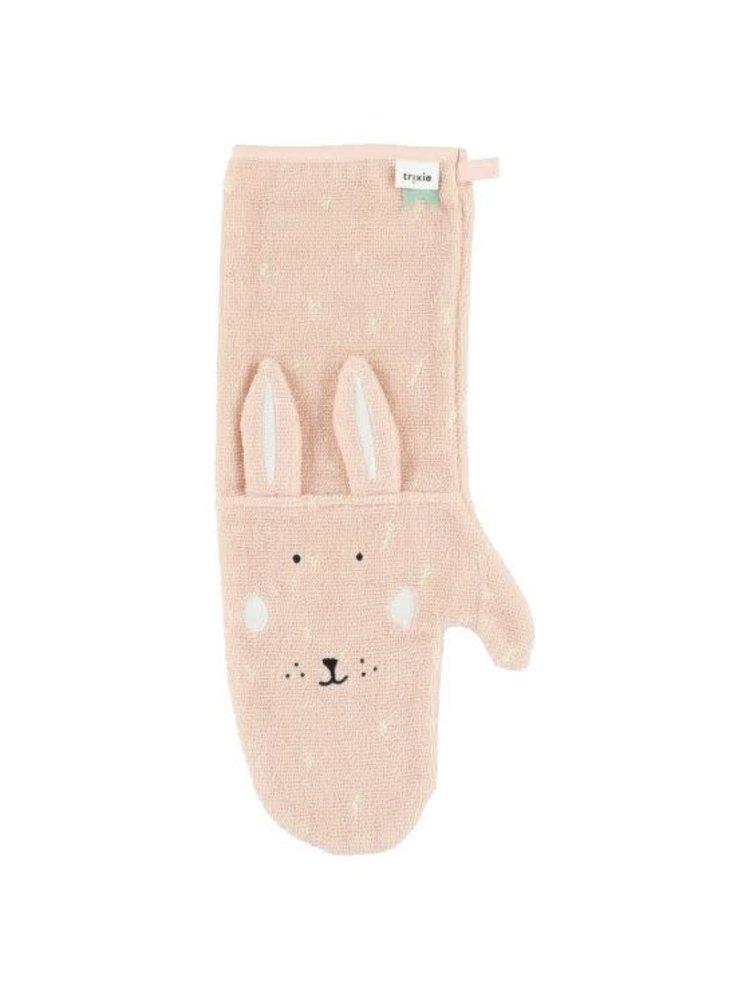 Trixie Washandschoen / Shower Glove biologisch katoen Mrs Rabbit