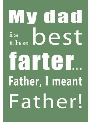 Gnoom Dubbele kaart met envelop My dad is the best farter...