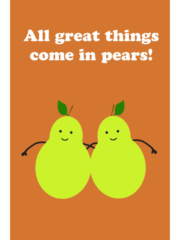 Gnoom Dubbele kaart All great things come in pears / Yay twins!
