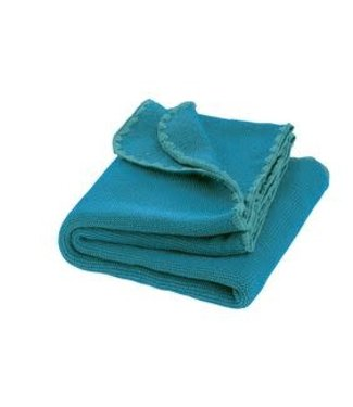 Disana Babydeken GOTS Wol Melange Blue - Lagoon 100x80 cm