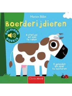 Boerderijdieren - Voel-, flapjes- en geluidenboek. Marion Billet