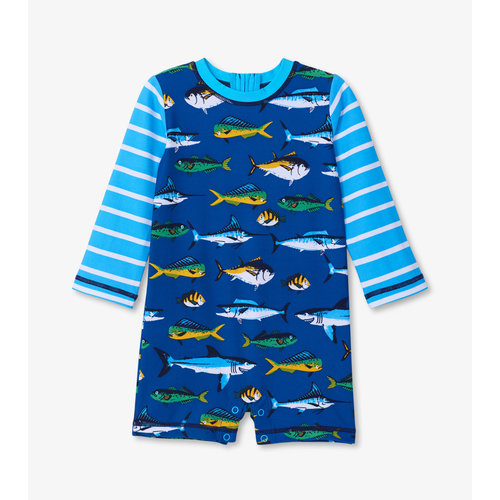Hatley Baby Zwempak One-Piece Game Fish UV Factor 50+