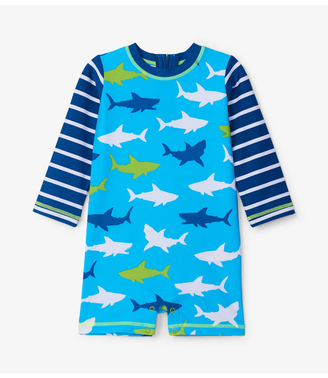 Hatley Baby Zwempak One-Piece Great White Sharks UV Factor 50+