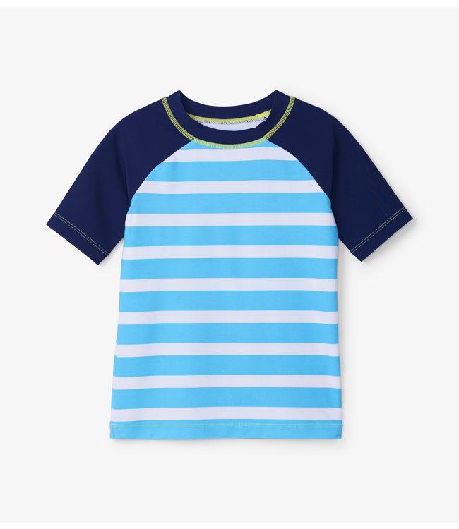 Hatley Rashguard zwemshirt Uv Factor 50+ Blue Stripes