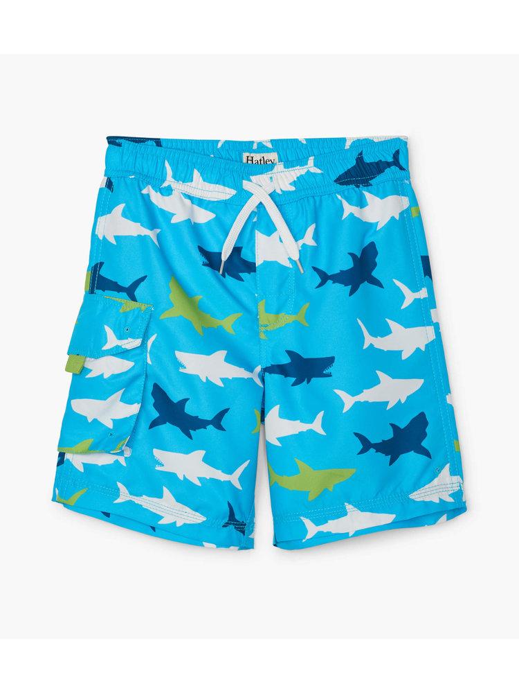 Hatley Kids Rashguard set shorts & shirt Uv Factor 50+ Great White Shark