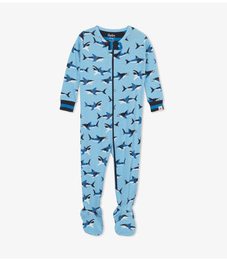 Hatley Great White Sharks Pyjama met voet - Organic Cotton