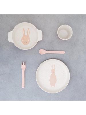 Trixie Bamboe besteksetje vork & lepel Mrs Rabbit