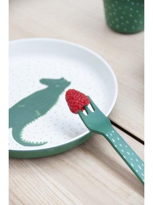 Trixie Bamboe besteksetje vork & lepel Mr Crocodile