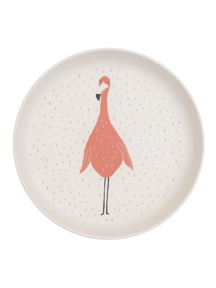 Trixie Bamboe bordje Mrs Flamingo