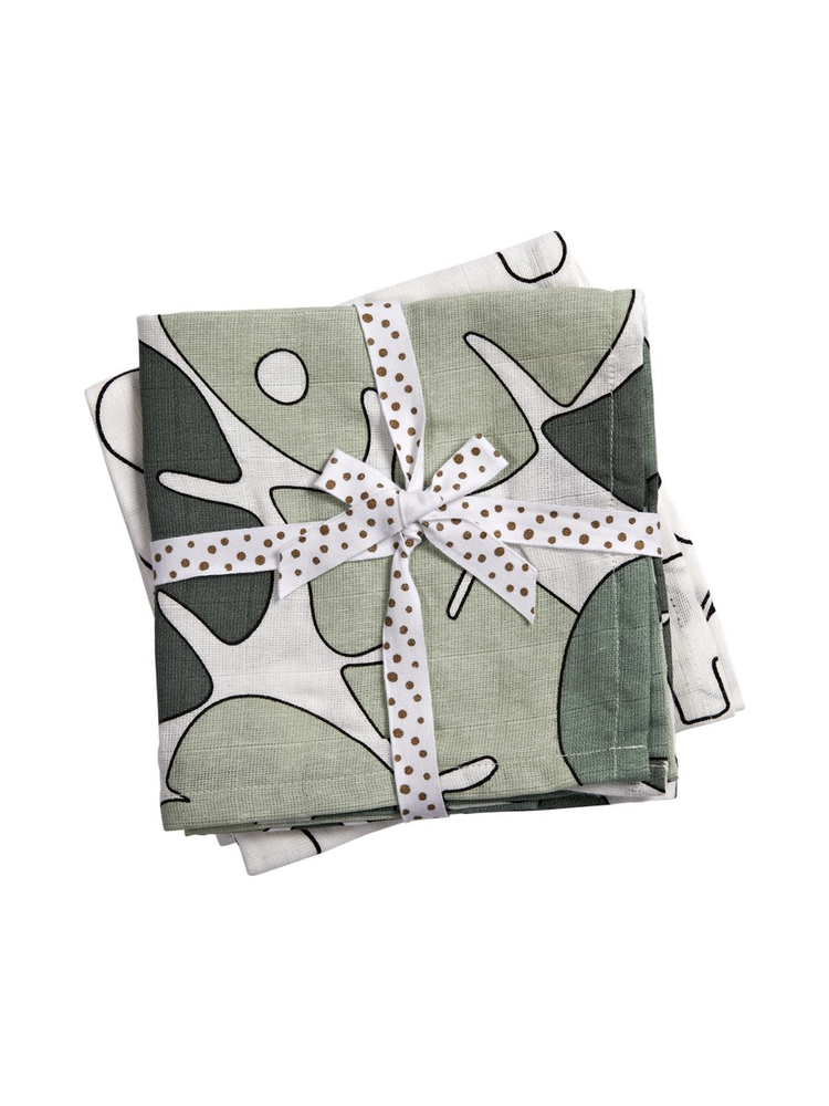 Done by Deer Swaddle 2-pack Tiny Tropics 120 x 120 cm