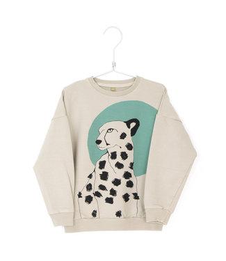 Lotiekids Sweatshirt Kids GOTS Katoen Cheetah Sand
