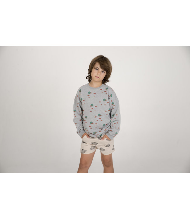 Lotiekids Sweatshirt Kids GOTS Katoen Savannah Grey Melange