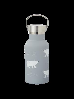 Fresk Fresk Nordic Thermosfles met twee doppen Polar Bear, 350 ml dubbelwandig roestvrij staal