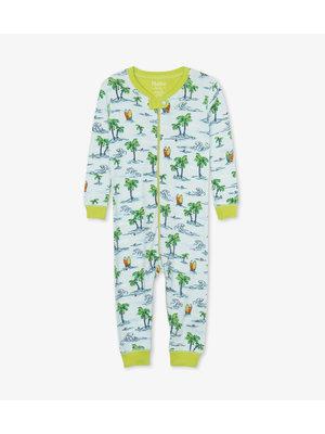 Hatley Hawaiian Tropics Pyjama Onesie zonder voet - Organic Cotton