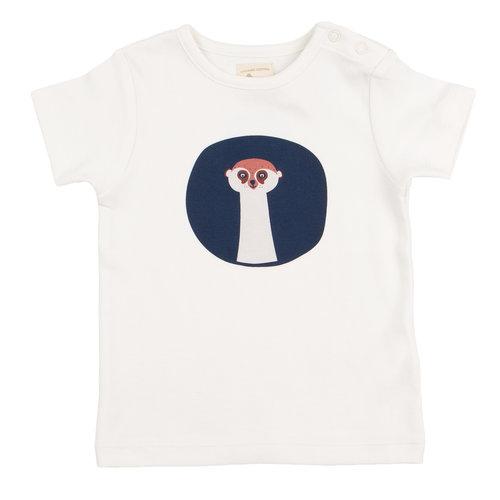 Pigeon T-shirt Korte Mouw GOTS Katoen Stokstaartje Face