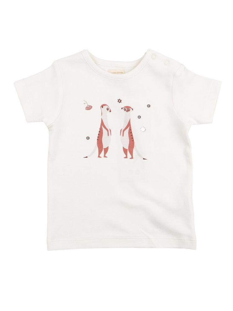 Pigeon T-shirt Korte Mouw GOTS Katoen Stokstaartje Staand