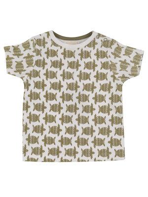 Pigeon T-shirt Korte Mouw GOTS Katoen Turtle Olive