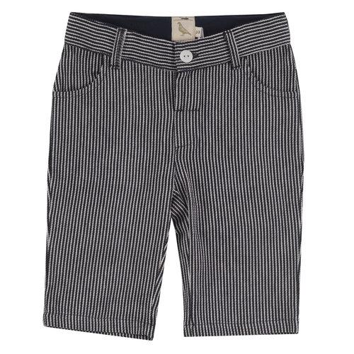Pigeon Long Shorts GOTS Katoen Navy Stripe