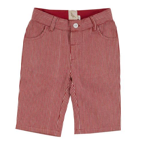 Pigeon Long Shorts GOTS Katoen Red Stripe