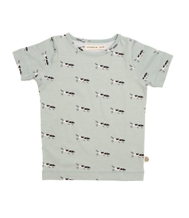 Onnolulu T- shirt Kids GOTS Jersey Katoen Grasshopper