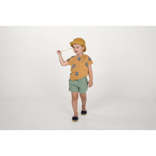 Lotiekids T- shirt Baby GOTS Biologisch Katoen Hippo Mustard