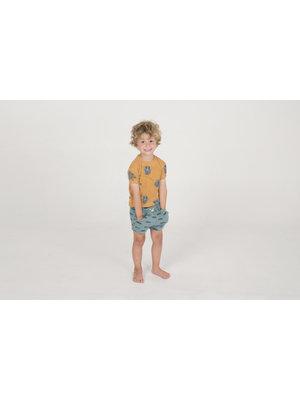 Lotiekids T- shirt Kids GOTS Biologisch Katoen Hippo Mustard