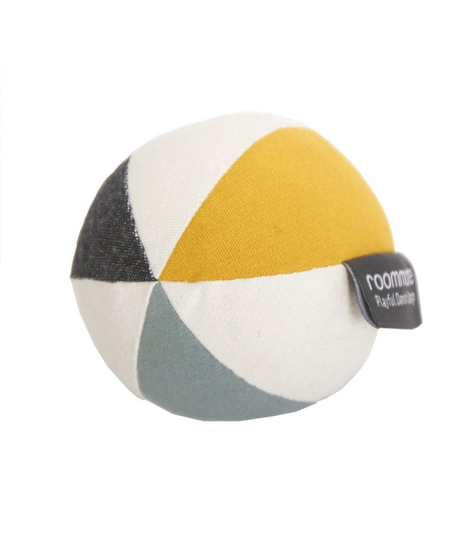 Roommate Canvas Ball with Bell - Sea Grey Organic Cotton