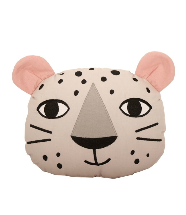 Roommate Leopard Cushion - Organic Cotton