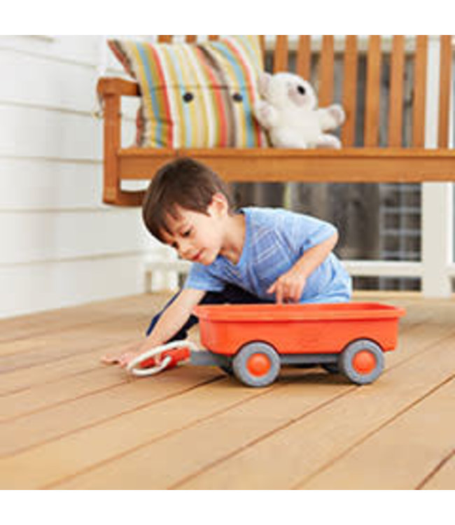 Green Toys Wagon Orange - Trekwagen van gerecycled plastic