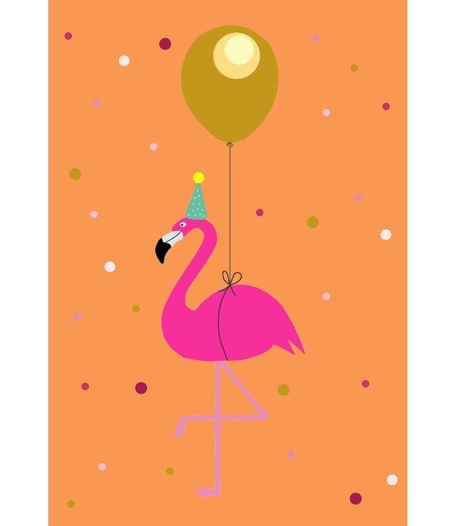 Gnoom Dubbele kaart Flamingo Gefeliciteerd