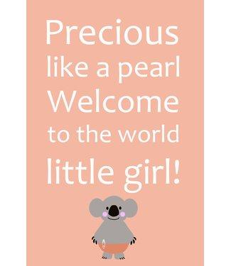 Gnoom Dubbele kaart Koala Precious like a pearl