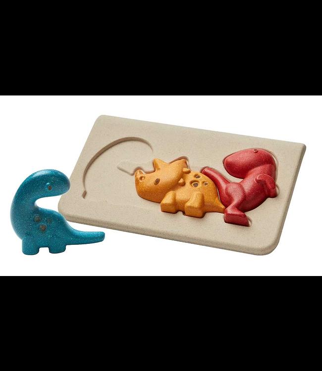 Plan Toys Houten relief puzzel Dino van duurzaam hout