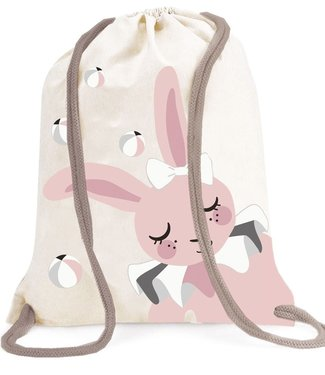 Roommate Bunny Gym Bag - GOTS Organic Cotton