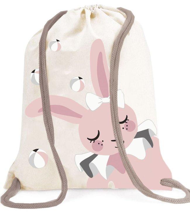 Roommate Bunny Gym Bag - GOTS Organic Cotton