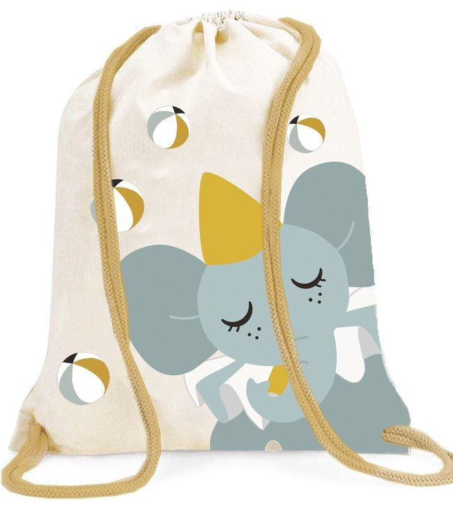 Roommate Elephant Gym Bag - GOTS Organic Cotton