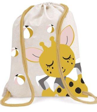 Roommate Giraffe Gym Bag - GOTS Organic Cotton