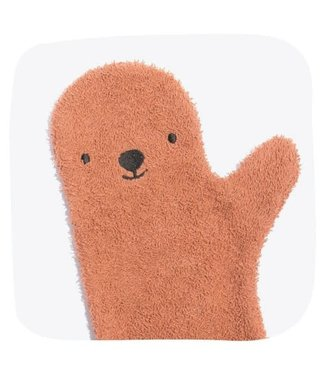 Invented 4 kids Baby Shower Glove Brown Bear (Roestbruin)