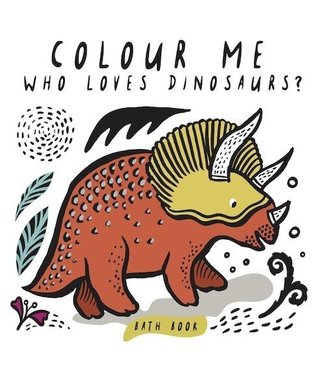 Wee Gallery Bath Book Color me Dinosaurs